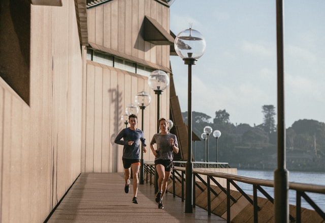 Jogging, a form of outdoor exercise